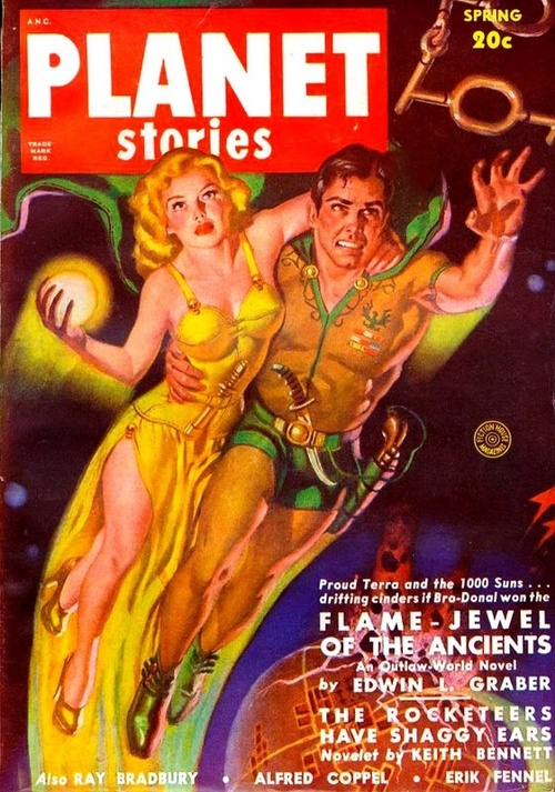Planet Stories, Spring 1950. Artwork by Allen Anderson.