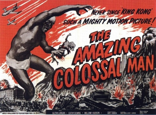 'The Amazing Colossal Man' - 1957 film poster