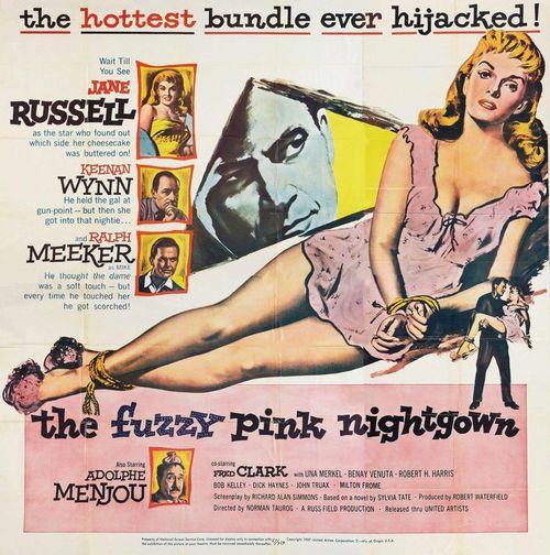 'The Fuzzy Pink Nightgown' - 1957 film poster, starring Jane Russell