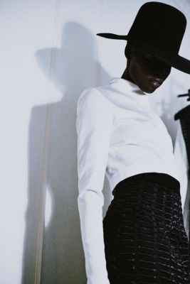 Grace Bol prepares to walk for Barbara Casasola, fw 2014
