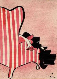 Illustration by René Gruau, 1952.