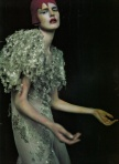 Stella Tennant wears Christian Dior
