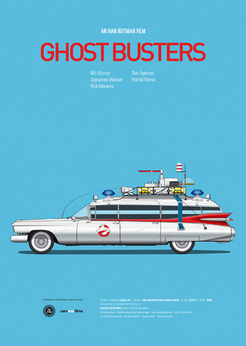 Posters of Famous Movie Cars by Jesús Prudencio x1