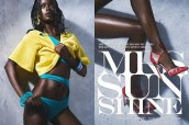"""Rwandan-Canadian model Happy Umurerwa is """"Mrs Sunshine"""" for Filler Magazine's Issue No. 2 photographed by Colin Gaudet."""